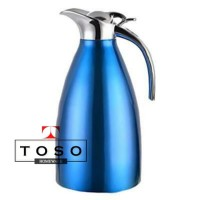 Stainless 2L Blue Vacuum Jug Thermal Pot Water Jug Thermos Termos Air