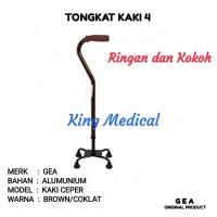 Tongkat Bantu Jalan Lansia Manula/Orang Tua kaki 4 GEA