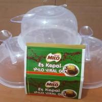 Paket Stiker Mangkok Plastik Salad Puding Bakso Milo Plus Sendok SMJB