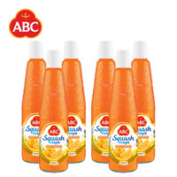 [Bundle isi 6 pcs] Sirup ABC Squash Delight Jeruk Florida 525ml