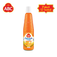 [Bundle isi 12 pcs] Sirup ABC Squash Delight Jeruk Florida 525ml
