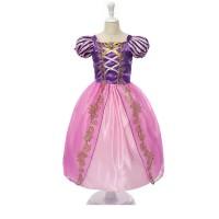 Dress Anak - Princess Dress - Rapunzel Dress - Kostum 2TH 3TH 4TH