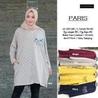 Paris tunik kaos atasan wanita muslim SUPER JUMBO tapi tetap modis