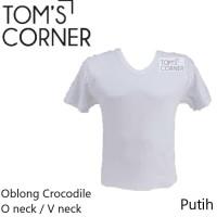 Terlaris Kaos Dalam Crocodile | Kaos Oblong Pria Putih | O Neck V Neck