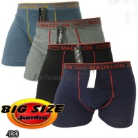 Terpopuler Celana Dalam Boxer Pria Jumbo Size Madelon (Xxxl) No 8889