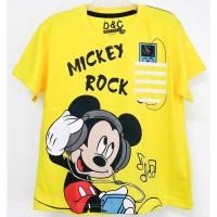 Kaos anak cowok Mickey Kuning Baju anak laki laki usia 1 - 10 tahun