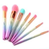 7Pcs Gradient Colorful 3D Makeup Brushes Blush Powder Quality