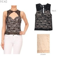 JEBE - TC42 - Lace Top with bra pad