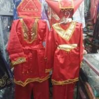 Baju adat padang anak ukuran xxl (SMP) nusantara kostum karnaval pawai