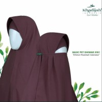 Khimar 3 in 1 yaitu Jilbab syari jenis Basic Pettt dari Khadijah