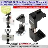 ULANZI ST-02 Metal Phone Tripod Mount with Hot Shoe Mount Video Rig