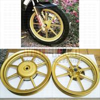 Velg Pelek Racing Rossi Venus Balok 8 Ring 14 Spacy Karbu FI Gold