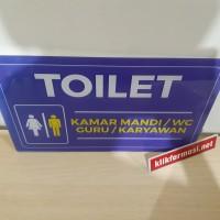 Papan Akrilik Toilet Guru/Karyawan