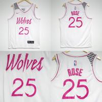 2a795c434b2 JERSEY NBA MINNESOTA TIMBERWOLVES  25 DERRICK ROSE PUTIH
