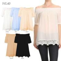 WL40 - Sabrina Lace Tops - Atasan Wanita - Pakaian Branded