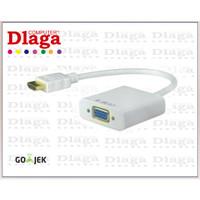 KABEL HDMI KE VGA TO LCD TV PROYEKTOR - CONVERTER HDMI TO VGA