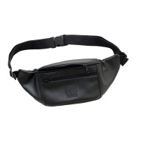 Tas Selempang Kulit Zelo Black / Sling Bag / Waist Bag