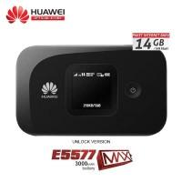 MIFI Modem 4G LTE Huawei E5577 MAX 3000mAh Unlock All Opr Free 14Gb