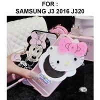 Samsung Galaxy J3 2016 J320 Mirror Soft Case Cover Casing Silikon Lucu