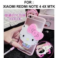 Xiaomi Redmi Note 4 4X Mediatek Mirror Soft Case Cover Casing Kartun