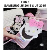 Samsung Galaxy J5 - J7 Core J7 2015 Mirror Soft Case Cover Casing Lucu