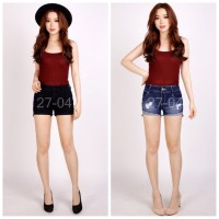 [CB] NO BOUNDARIES Highrise Shorts / Celana Jeans Pendek Branded