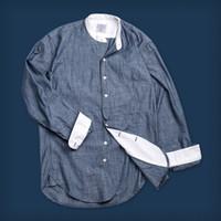 Oldblue The Vaquero Shirt - 6 Oz Light Indigo Irregular Chambray