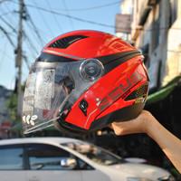 helm zeus zs610 red black