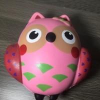 Squishy Pink Owl Slow Rising Premium Quality Import Medium Size