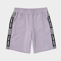 (A3)Nii common side line taping quilt knit pants