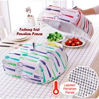 Tudung saji lipat Penahan panas 37x37x15 Makanan meja makan dapur foil