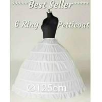 Gaun Petticoat Pengantin Petikot Pengembang Wedding 6 ring