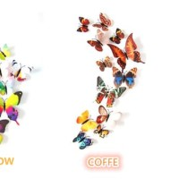 New 3D Butterfly Wall Sticker - Stiker dinding kupu-kupu 3D dgn