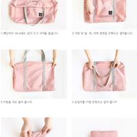 New 333 Korean Easy Travel Bag foldable Tas travel hand carry 333