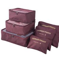 New NEW 2016 Traveling Bag Organizer (1set isi 6 pcs )(ukuran lebih