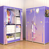 New 03 LOVE Multifunction Wardrobe / Cloth Rack with cover lemari