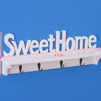 New Rak dinding vintage SWEETHOME (dengan 4buah hook gantungan )