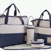 New 258 Diaper bag Tas Perlengkapan bayi travelling bag 5 IN 1