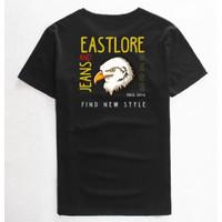 EASTLORE Black Tshirt Graphic Bird BIGSIZE - Kaos Distro JUMBO SIZE