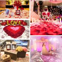 Red Rose Petals / Kelopak Bunga Merah Mawar Artifisial / Hiasan tabur