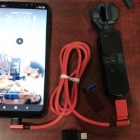 DJI OSMO POCKET paket kabel model L MICRO USB + OTG TYPE C