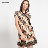[Arthesian] Dress Batik Wanita - Hanaka Batik Printing