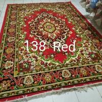 Karpet Permadani Almaya Besar Jumbo Red Merah 210x310 cm