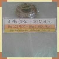 Rp125=50cm (3 ply) Tali Goni, Tali Rami, Jute, Tali Vintage, Craft,