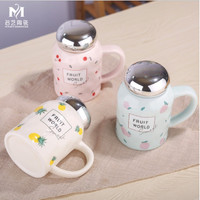 Gelas Minum Gelas Mug keramik Lucu cangkir minum motif buah - TBR035