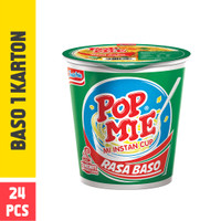 Pop Mie Kuah Rasa Baso 1 Dus/24pcs, 1,800gr