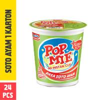 Pop Mie Kuah Rasa Soto Ayam 1 Dus/24pcs, 1,800gr