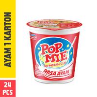 Pop Mie Kuah Rasa Ayam 1 Dus/24pcs, 1,800gr
