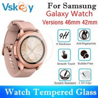 VSKEY 100pcs Tempered Glass For Samsung Galaxy Watch 46mm 42mm Round