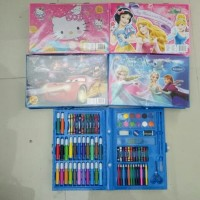 Crayon Set Model Koper 86 pcs / Pensil Warna / Alat Mewarnai